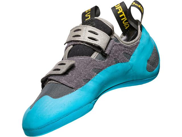 La Sportiva GeckoGym Climbing Shoes Herren carbon/tropic blue